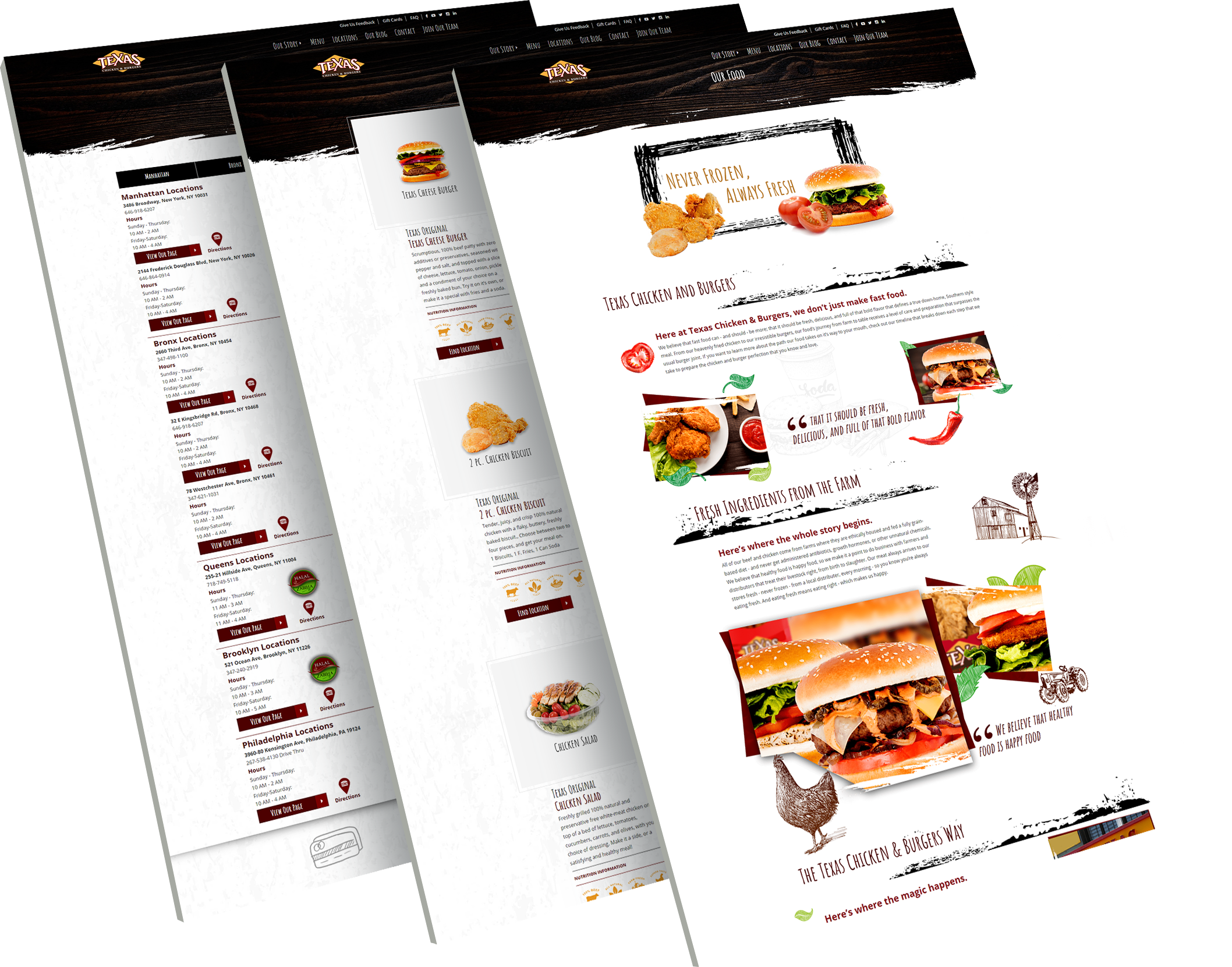 Texas Chicken And Burgers web view